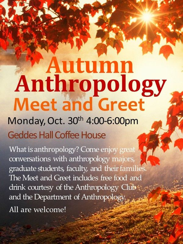 Autumn Anthropology Meet And Greet