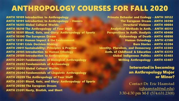 Fall 2020 Anthro Courses