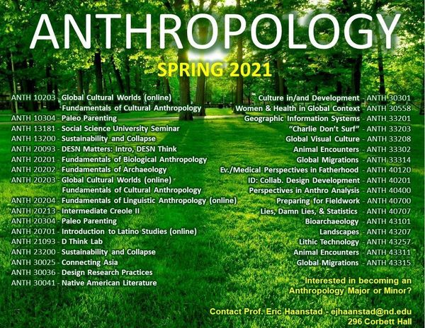 Anth Courses Spring 2021
